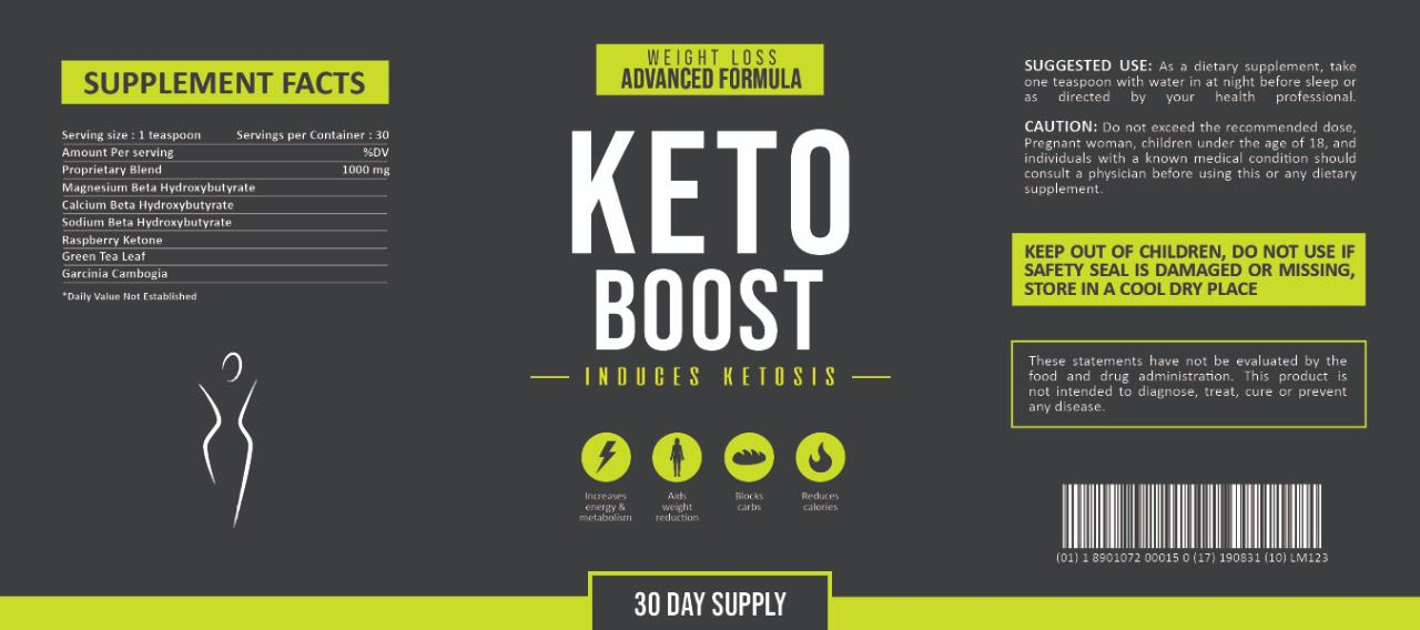 Keto Boost Supplement Facts